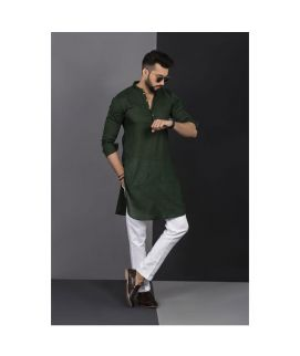 Men's Vestir De Green Chicken Kurta