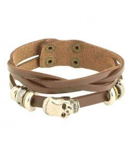 100 Degreez Brown Artificial Leather Unisex Bracelet   JP 3197