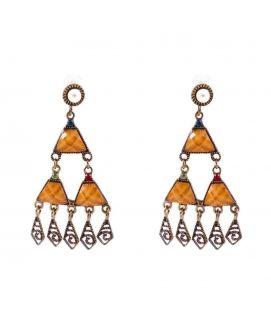 Brown Steel Earrings JP 2140