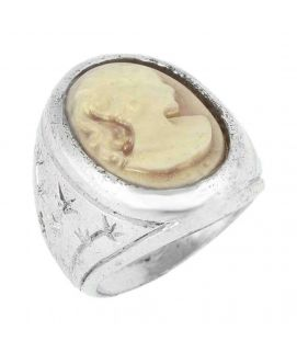 Brown Steel Ring For Women