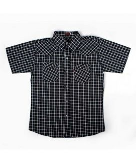 Check Style Black Shirt For Boys