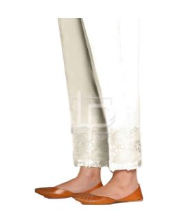 Women's Tissue Embroidery Off White Cigg pant