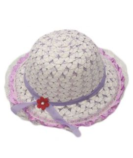 Purple & White Hats For Girls