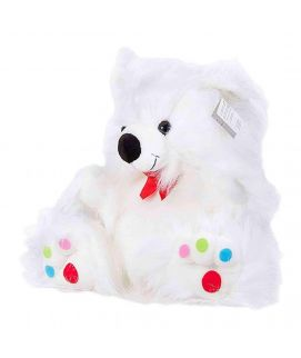 18 White Bear With Multicoloured Dots On Feet