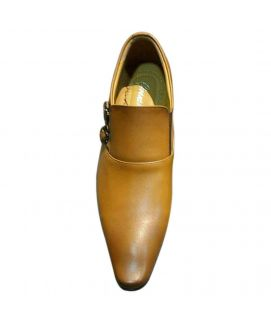 Men's Brown Leather Straps Oxfords Shoes