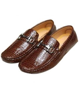 Shining Brown Loafers For Men