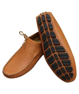 Tan New Style Side Lace Loafers