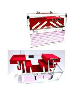 4 Tray Red Transparent Box