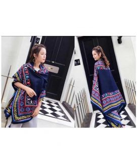 Women's Winter Imported Blue Shawls
