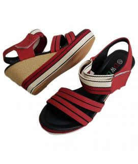 Women's Fawn & Red Wedges