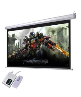 Projector Screen 200 Inch Electric Motorised 10x13 Feet 4_3MW Speed-X