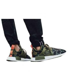 Men's Olive Green Stylish NMD Shoes