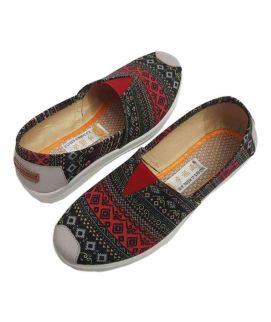 Women's Red And Black Toms