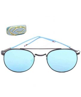 Thom Browne Round Shape Blue Sunglasses