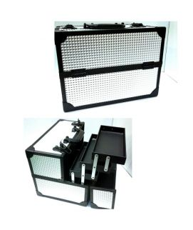 6 Trey Large Beauty Box Black And Silver