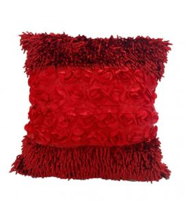 Red Shaggy Coushion