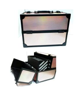 6 Trey Large Beauty Box Black And Brown