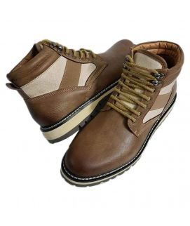 Men's Leather Camel Brown Boots
