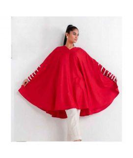 Women's Red Butterfly Style Kurtie