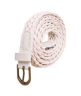 White Female Style Hamp Rope Belt