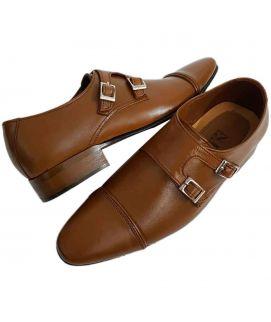 Men's Monkstraps Brown Casual Shoes
