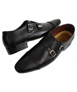 Men's Monkstraps Black Casual Shoes