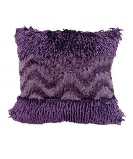 Purple Shaggy Coushion