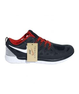 Men's Black And Red Sports Shoes