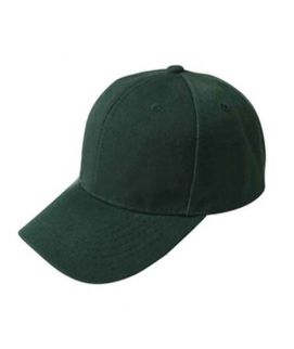 Casual Baseball Solid Color Blank Visor Hat Snapback Caps Green