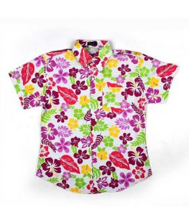 Multicolor Flower Printed Shirt For Boys