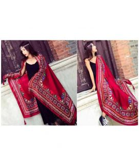 Women's Winter Imported Red Shawls