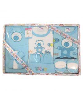 New Born Baby Valvet Blue Suit Set