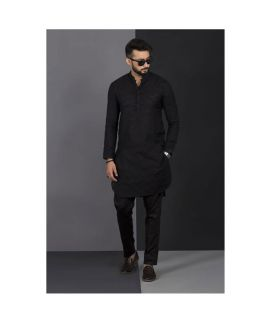 Men's Vestir De Black Chicken Kurta