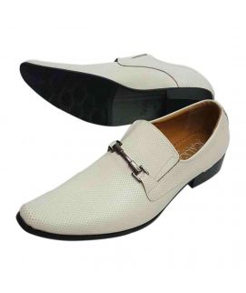 White Cow Leather Formal Shoes