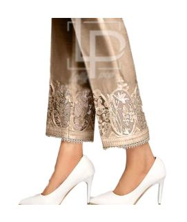 Women's Tissue Circle Embroidery Skin Cig Pant