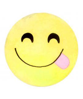 Yellow Naughty Emoji Pillow Cushion