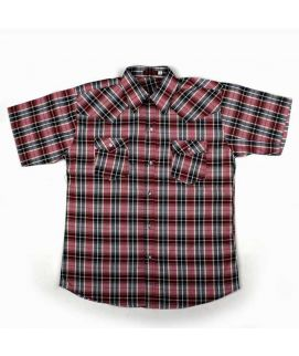 Check Style Maroon Shirt For Boys