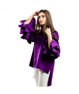Women's Lollypop Flower Purple Shirt