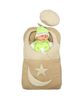 Baby Carry Nest Beige Moon Star Style