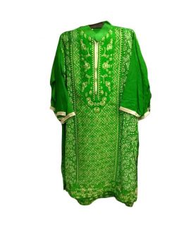 Women's Green 3 Pieces Azaadi Day Embroidered Stitched Suit