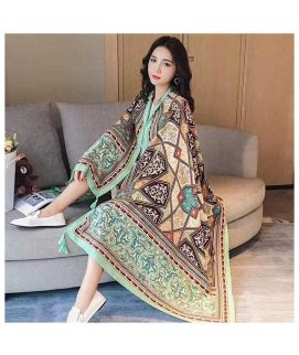 Women's Green Winter Imported Shawls