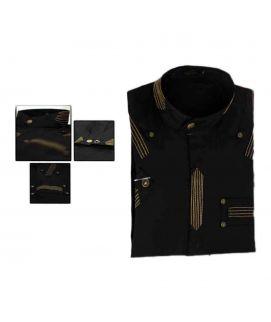 Unique cargo shirt Jet Black For Men