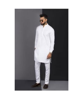 Men's Vestir De White Kurta