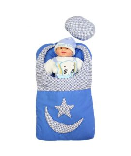 Blue Baby Carry Nest Moon Star Style