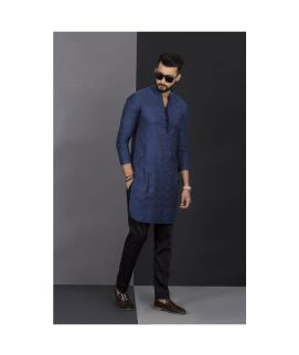 Men's Vestir De Blue Chicken Kurta
