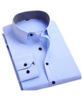 Sky Blue Men's Formal Fullsleeve Shirt