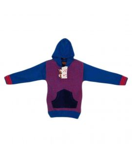 Acrylic Checkered Boys Sweater Blue & Maroon