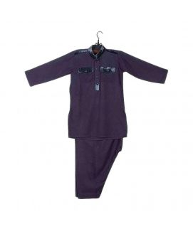 Amaze Collection Grey Wash n Wear Shalwar Kameez for Boys
