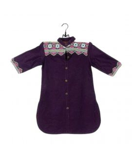 Amaze Collection Purple Cotton Embroidered Kurta for Girls  GS 267