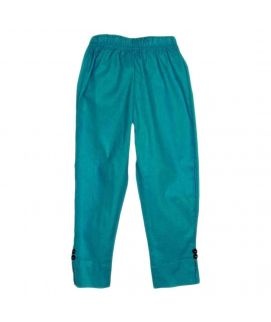 Amaze Collection Sea Green Cotton Trousers for Girls